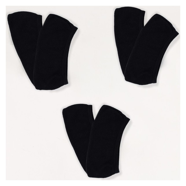 Набор женских носков-подследников 3 пары Minaku цв.черный, размер 22-24  Minaku