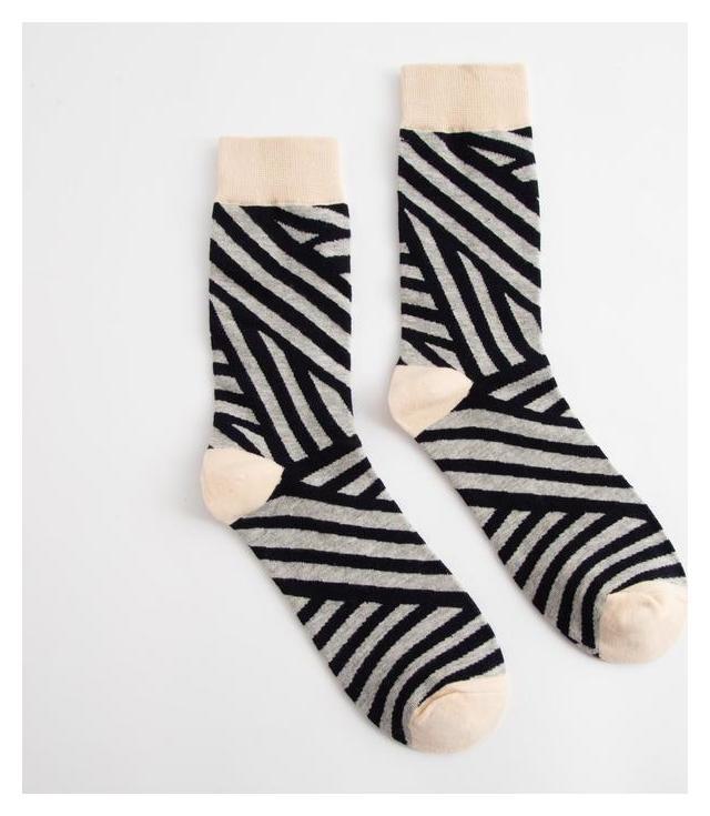 Носки Minaku «Полосы» размер 36-41 (23-27 см)  Minaku