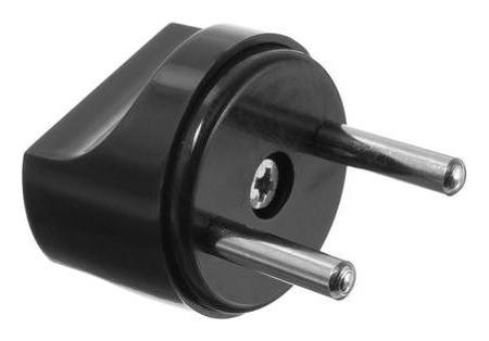 Переходник Luazon Lighting, 6 А, евро, круглый, 220 В, черный, 1 шт.  NNB