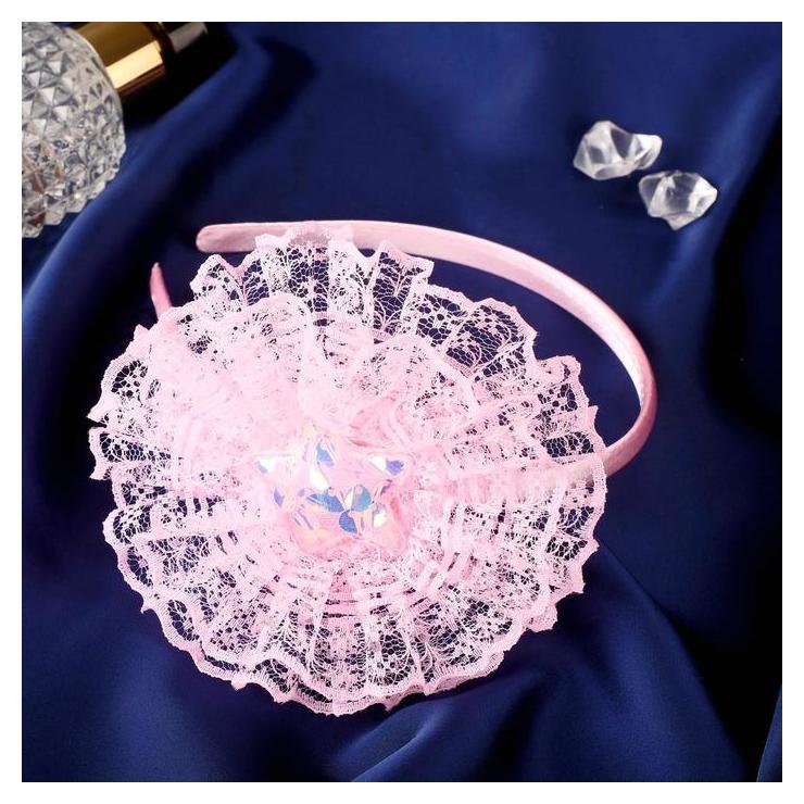 """Ободок для волос """"Клара"""" звёздочка, 0,5 см, розовый  Выбражулька"""