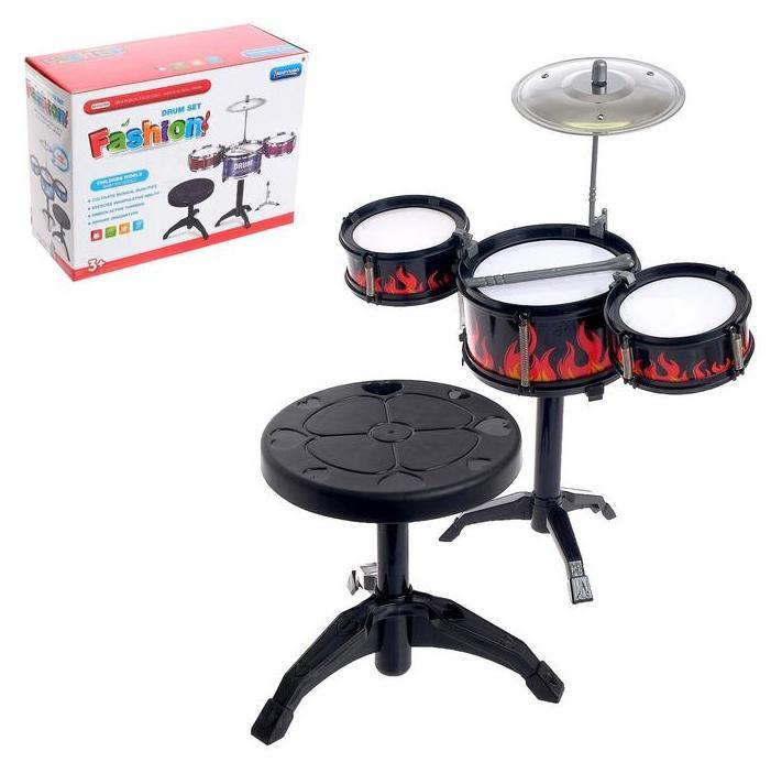 Барабанная установка Пламя, со стульчиком NNB