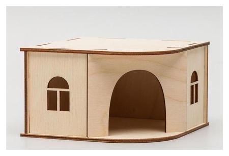 Домик для грызунов, 13 х 13 х 8 см NNB