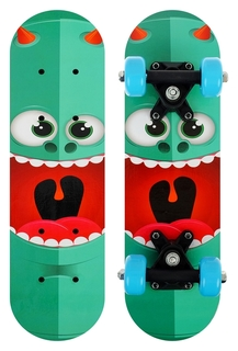Скейтборд детский «Монстрик» 44 × 14 см, колёса PVC 50 мм, пластиковая рама