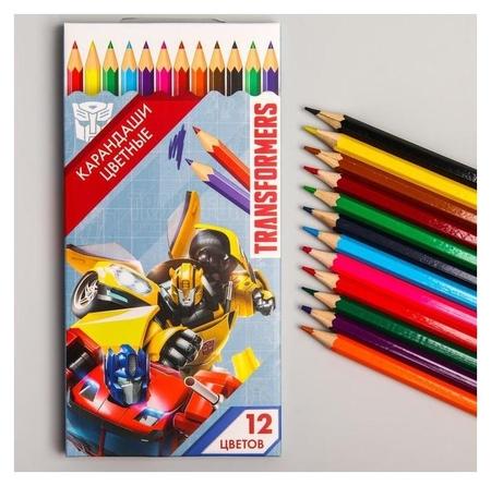 Карандаши цветные, 12 цвета, Transformers  Hasbro