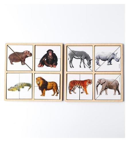 Картинки-половинки «Животные африки»  Лесная мастерская