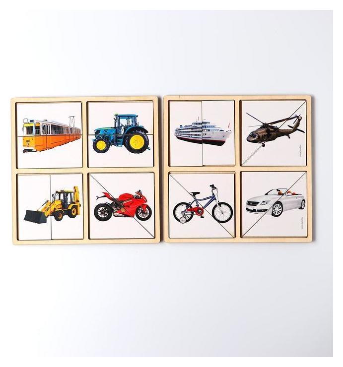 Картинки-половинки «Транспорт»  Лесная мастерская