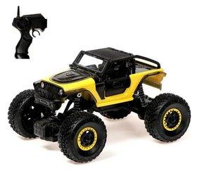 Джип радиоуправляемый «Краулер», 1:20, работает от аккумулятора, цвет жёлтый