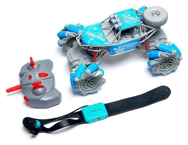 Машина радиоуправляемая «Джип-акробат», 4wd, управление жестами, работает от аккумулятора, цвет синий NNB