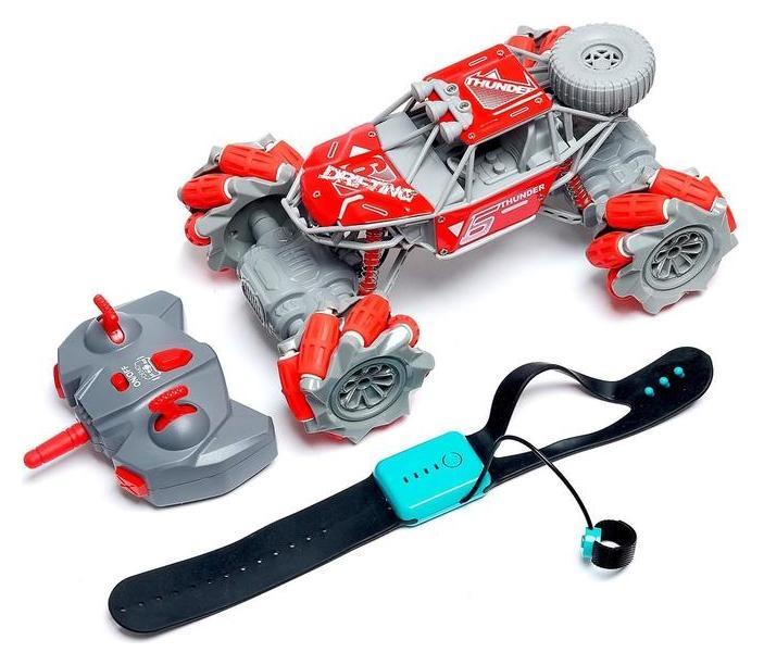 Машина радиоуправляемая «Джип-акробат», 4wd, управление жестами, работает от аккумулятора, цвет красный  NNB