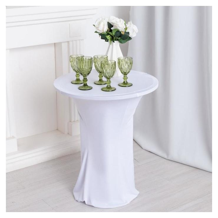 Чехол на стол, цв.белый, 60*120 см, 100% эластан  NNB