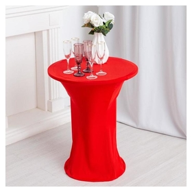 Чехол на стол, цв.красный, 60*120 см, 100% эластан  NNB