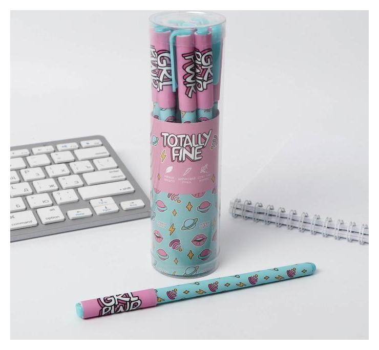 """Ручка с колпачком и нанесением Soft-touch """"Totally Fine""""  ArtFox"""