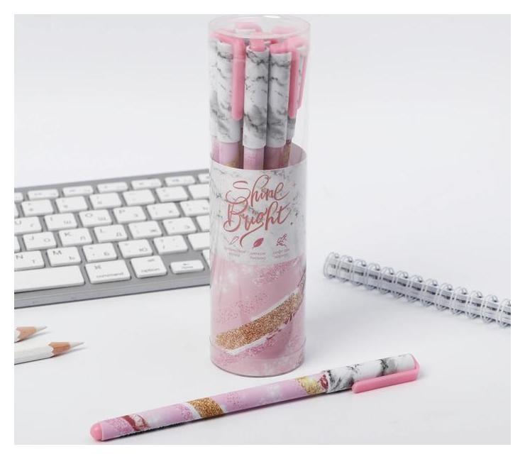 """Ручка с колпачком и нанесением Soft-touch """"Shine Bright""""  ArtFox"""