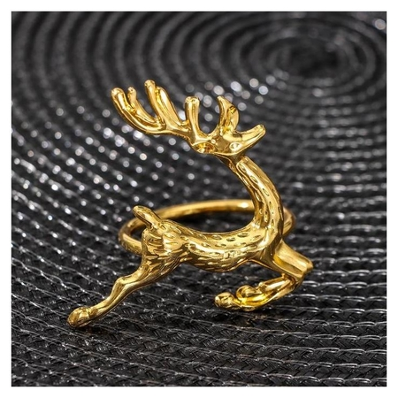Кольцо для салфетки «Олень», цвет золото  NNB