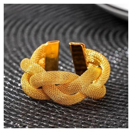 Кольцо для салфетки «Сплетение», цвет золото  NNB