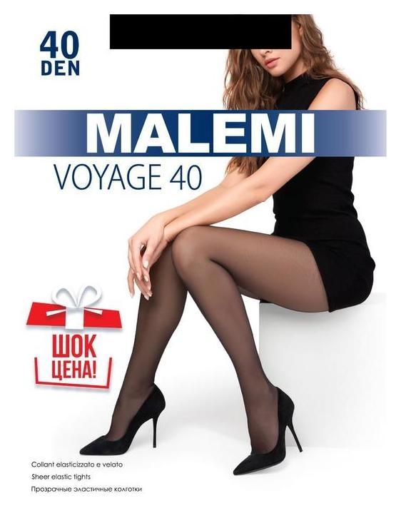 Колготки женские Malemi Voyage 40 цвет чёрный (Nero), р-р 4  Malemi