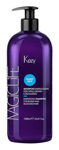 Шампунь укрепляющий для светлых и обесцвеченных волос Kezy Magic life