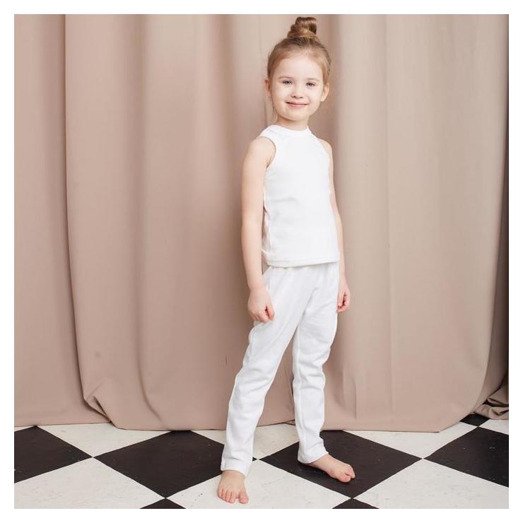 Майка детская Minaku: Home Collection Kids цвет белый, рост 110 см  Minaku
