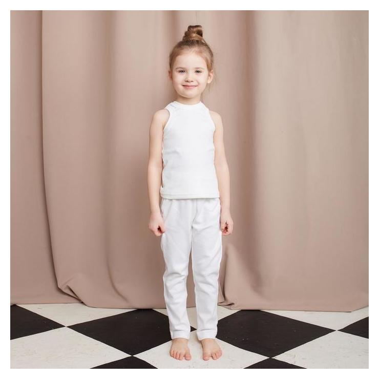 Брюки домашние для девочки Minaku: Home Collection Kids цвет экрю, рост 110 см  Minaku