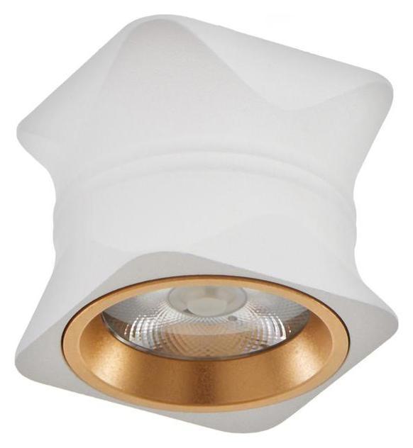 Светильник 86608/1 LED 7Вт 4000к белый-золото 6,3х6,3х5,5 см  BayerLux