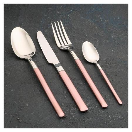 Набор столовых приборов Magistro «Версаль», 4 предмета, цвет розовый  Magistro