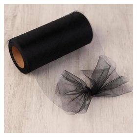 Фатин, 15 см, 11 ± 1 г/кв.м, 23 ± 1 м, цвет чёрный №21