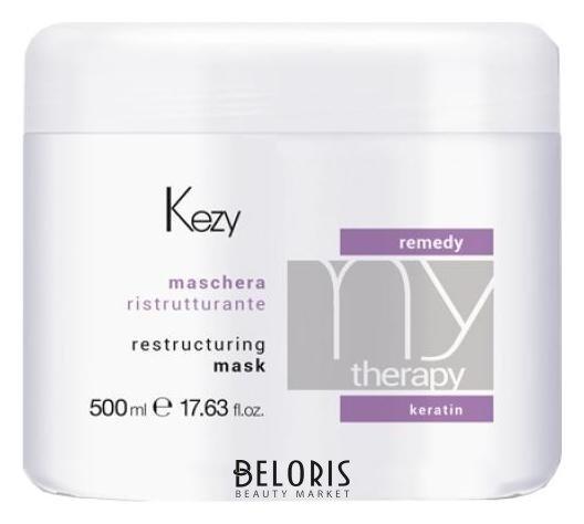 Маска для волос Kezy Восстанавливающая маска с кератином Remedy mask
