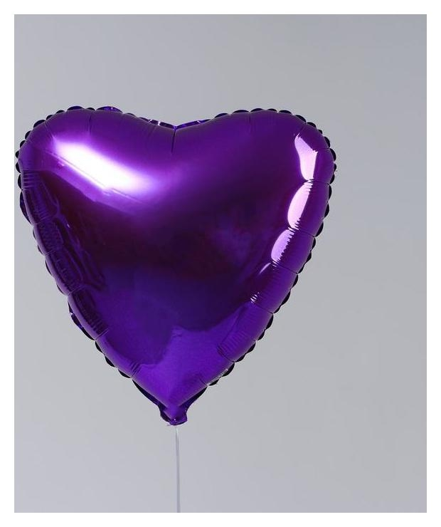 """Шар фольгированный 19"""" сердце, пурпурный  Agura"""