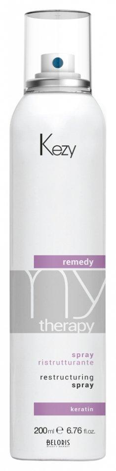 Купить Спрей для волос Kezy, Спрей реструктурирующий и разглаживающий с кератином Remedy spray , Италия