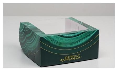 Коробка для торта с окном «Малахит» 23 х 23 х 11 см  Дарите счастье