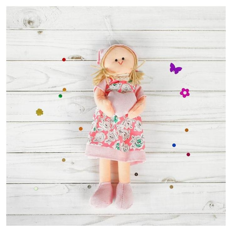 Мягкая игрушка-подвеска кукла Инна с сердцем в ручках, виды NNB