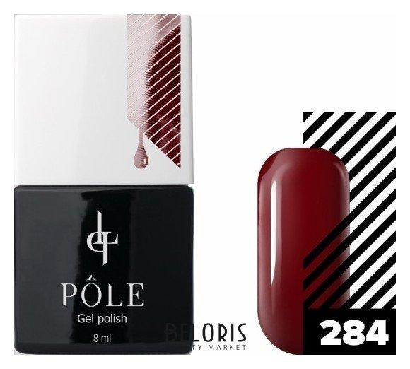 Купить Лак для ногтей POLE, Цветной гель-лак POLE , Россия, №284 - карминовый красный