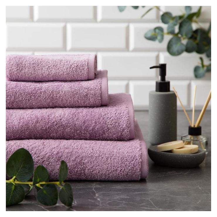 Полотенце махровое Этель Organic Lavender 30х50 см, 100% хл, 420гр/м2 Этель