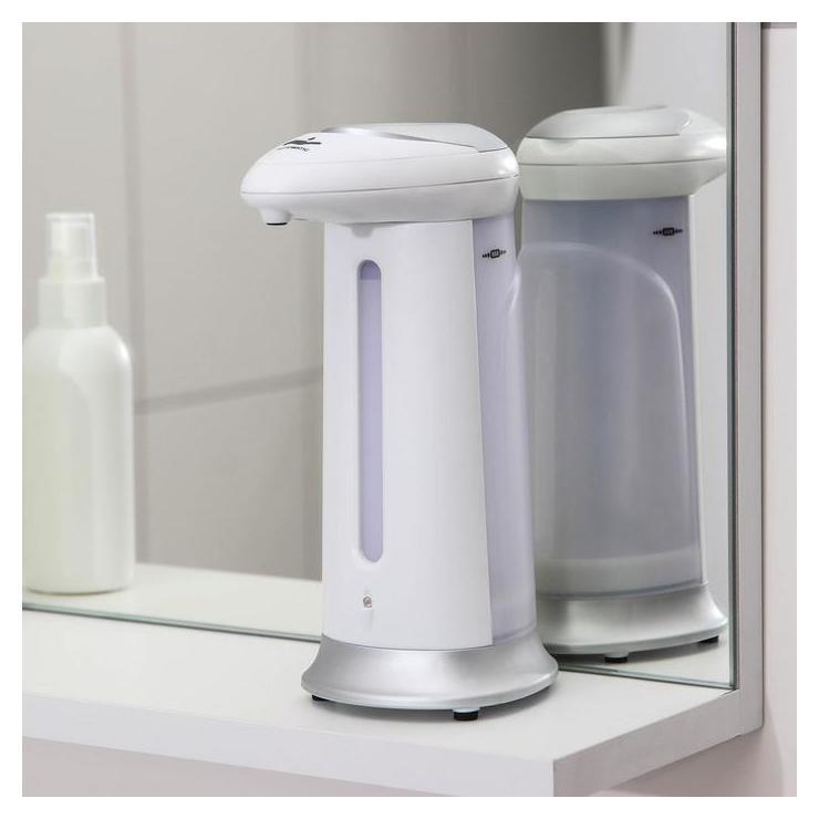 Диспенсер для антисептика/жидкого мыла сенсорный, 380 мл, на батарейках, цвет серебристый NNB