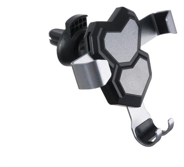 Держатель телефона в дефлектор, самозажимной 6-9 см, черный  NNB