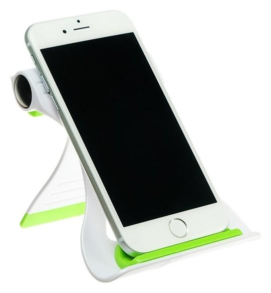Подставка для телефона Luazon, складная, усиленная, регулируемая высота, зелёная  LuazON