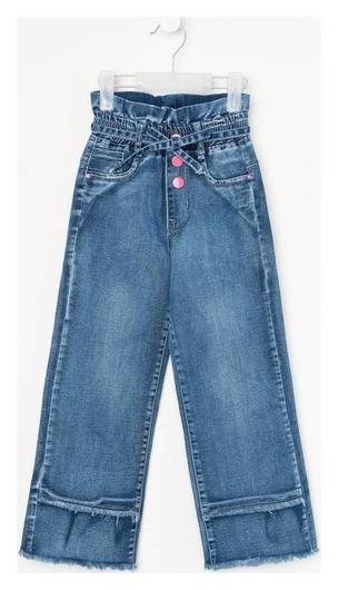 Джинсы для девочки, цвет синий, рост 110 см  Msk-Bear