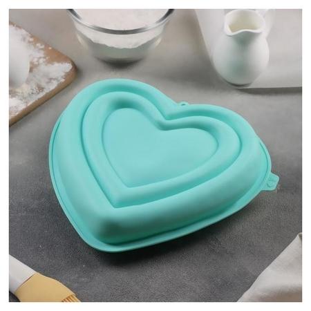 Форма для муссовых десертов и выпечки доляна «Сердце», 22×20×7 см  Доляна