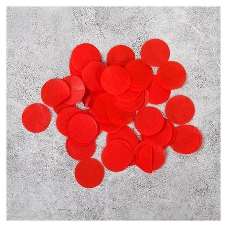 Наполнитель для шара Конфетти круг 2,5 см, бумага, цвет красный, 100 гр. NNB