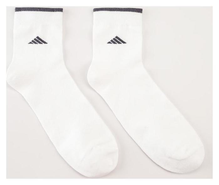 Носки мужские, цвет белый, размер 27-29  Золотая игла