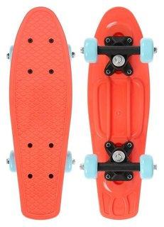 Скейтборд 42 х 12 см, колеса PVC 50 мм, пластиковая рама, цвет оранжевый