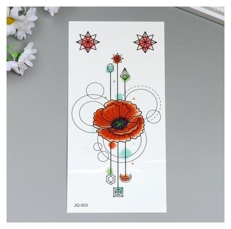 """Татуировка на тело цветная """"Цветы и узоры"""" 21х10 см  NNB"""