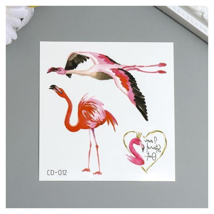 Татуировка на тело цветная Фламинго 8х7,5 см NNB
