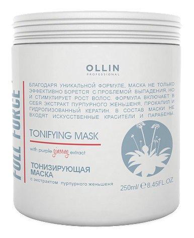 Тонизирующая маска с экстрактом пурпурного женьшеня  OLLIN Professional