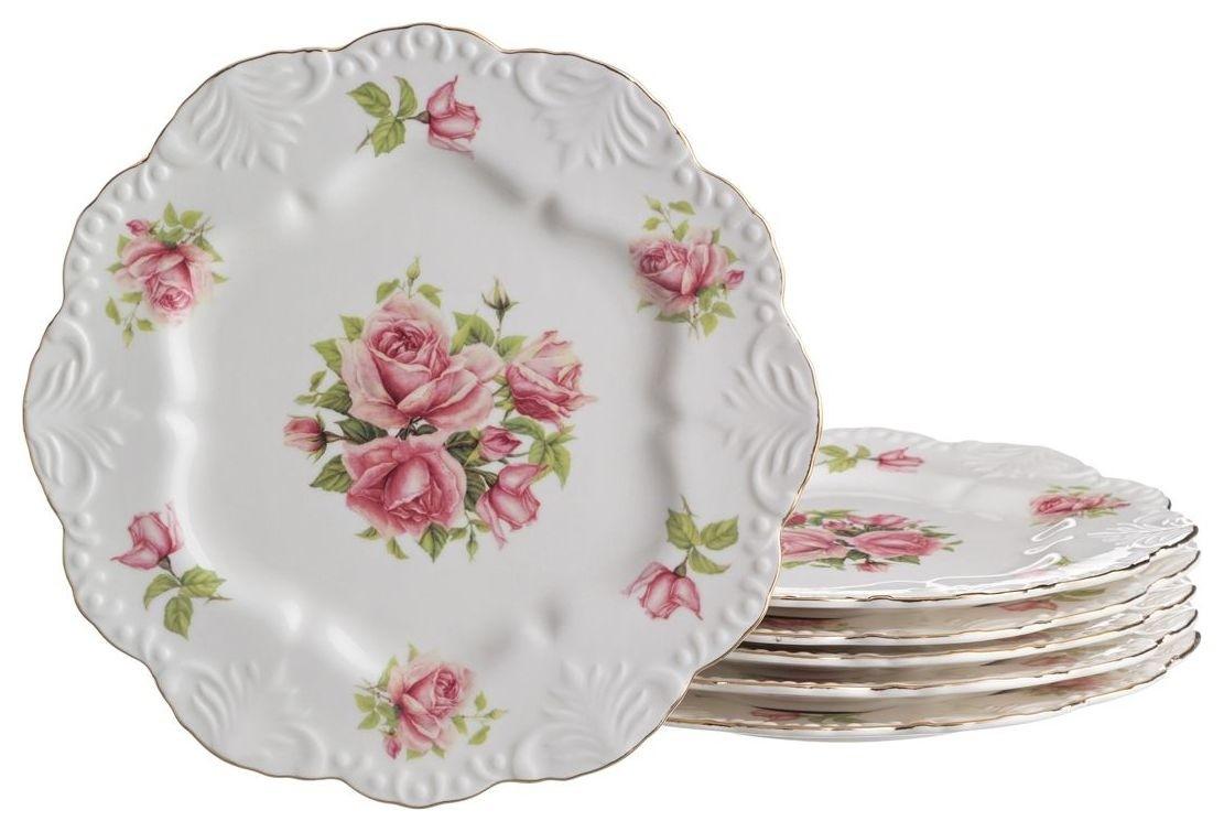 "Набор тарелок ""Жаклин"", 21 см, 6 штук  Lefard"