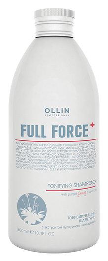 Тонизирующий шампунь с экстрактом пурпурного женьшеня OLLIN Professional Full Force