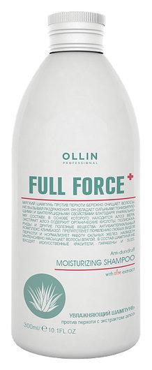 Увлажняющий шампунь против перхоти с экстрактом алоэ OLLIN Professional Full Force