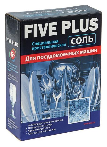 """Cоль для посудомоечных машин 5+ """"Five Plus"""", 1500 мл  Five plus"""