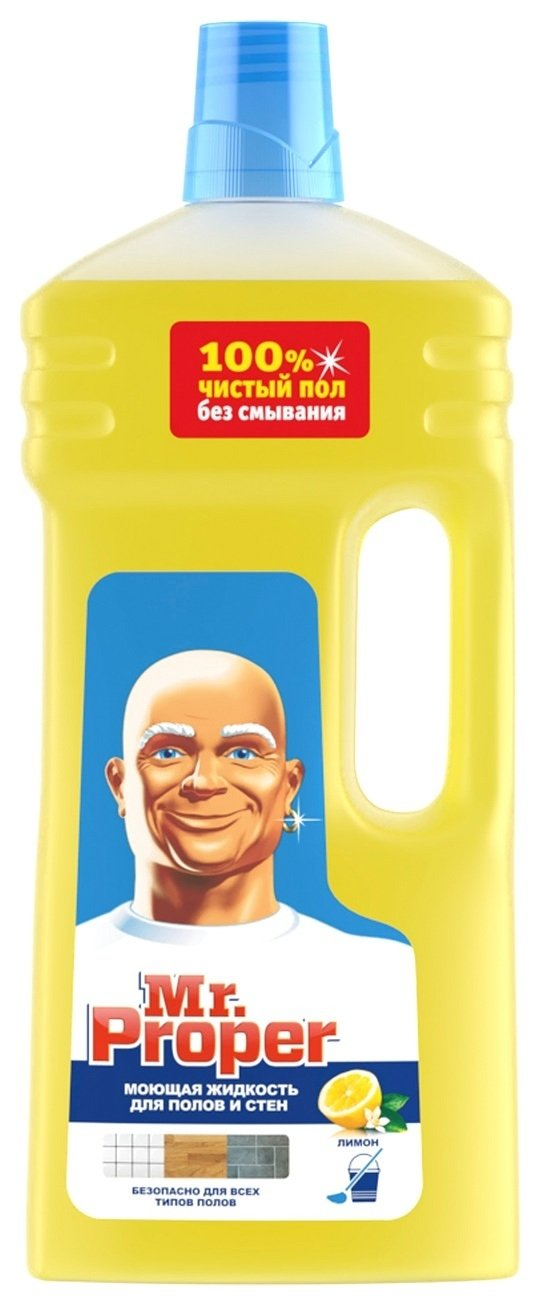 """Моющая жидкость для полов и стен """"Mr.proper. лимон"""", 1,5 литра  Mr. Proper"""