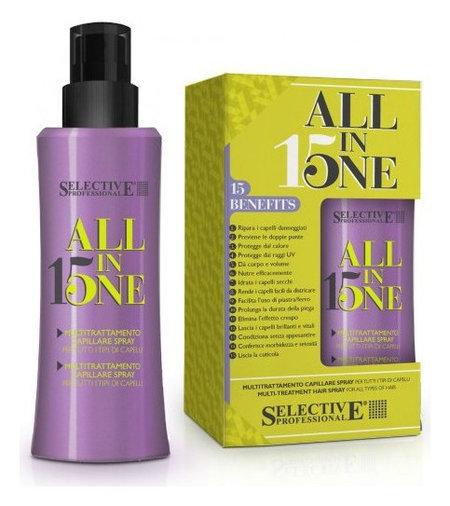 Маска-спрей 15 в 1 для всех типов волос  Selective Professional